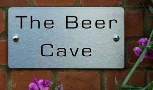 The Beer Cave  -Funny House Name Sign Plaque- Ideal housewarming gift